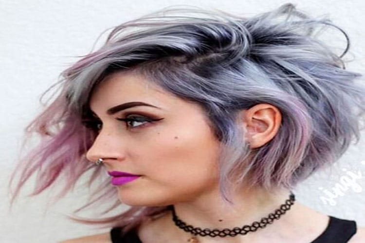 short layered inverted bob hairstlye