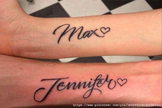 Couple names tattoos