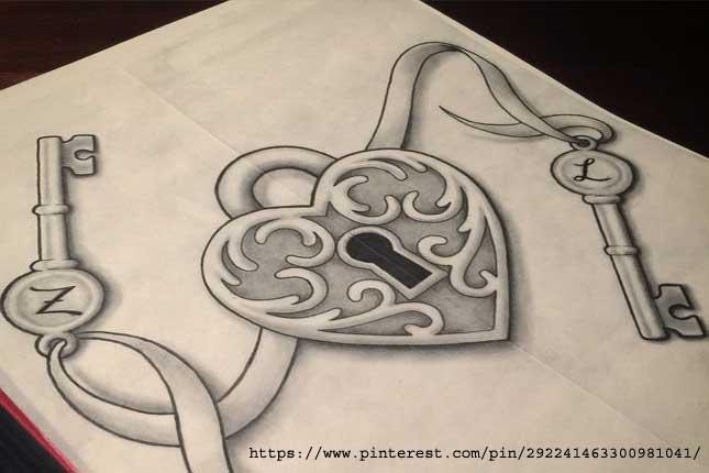 Heart-lock-and-key