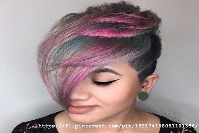 Rainbow Pixie with Longer Top