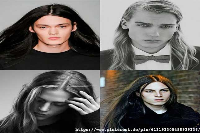 Parted Long Hair - long hairstyles for men