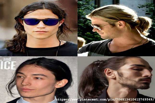 Ponytail- long hairstyles for men