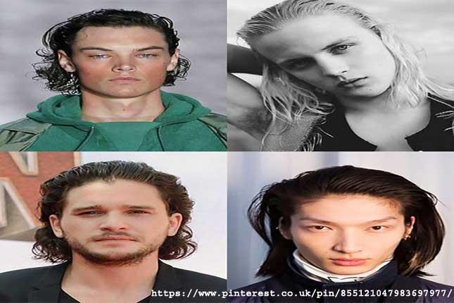 Slick Back- long hairstyles for men