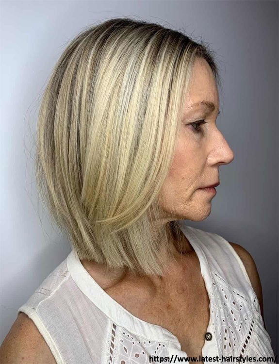 Balayage Lob - hairstyles for women over 50