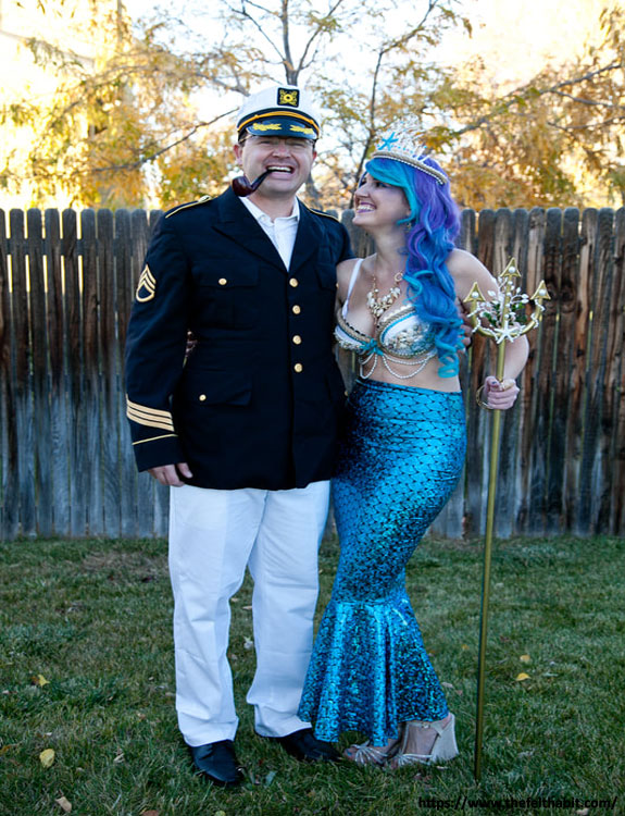Captain and Mermaid - college halloween Costumes