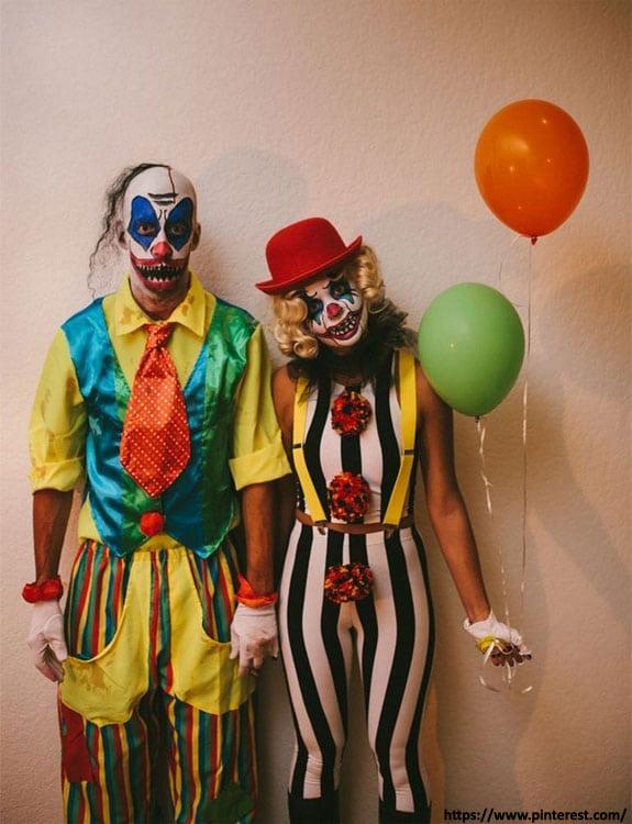 DIY Clown - college halloween Costumes