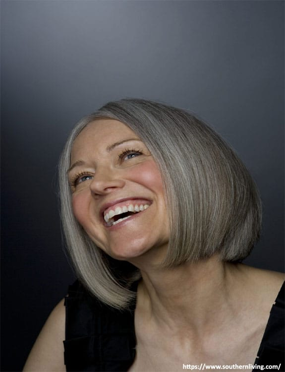 Honey Bob For Older People - hairstyles for women over 50