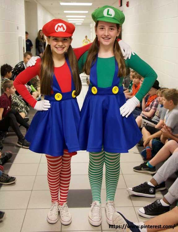 Mario & Luigi - college halloween Costumes