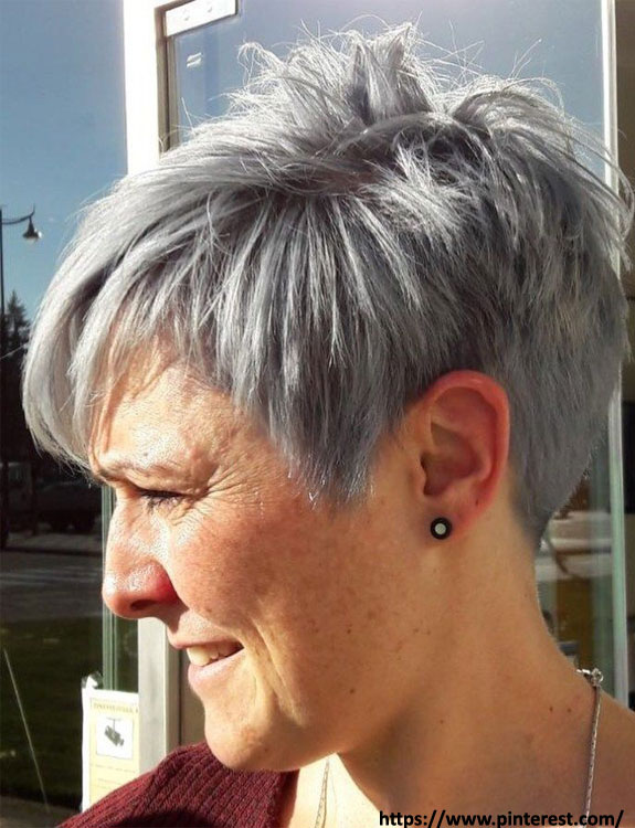 Short Tapered Haircut - hairstyles for women over 50