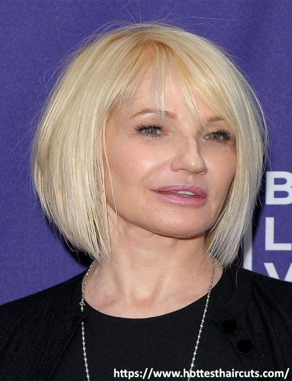 Wedge Bob With Bangs - hairstyles for women over 50