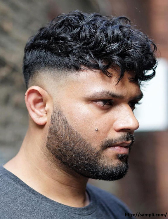 Afro-Drop-Fade-Types of Fades