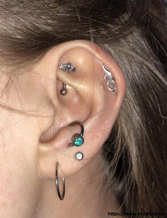Anti-Tragus Piercing - ear piercing types
