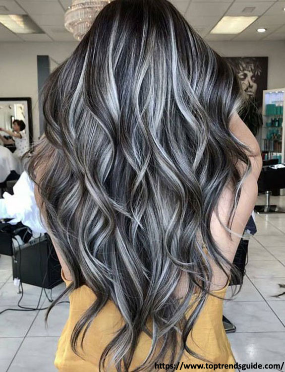 Black Hair With Full Highlights