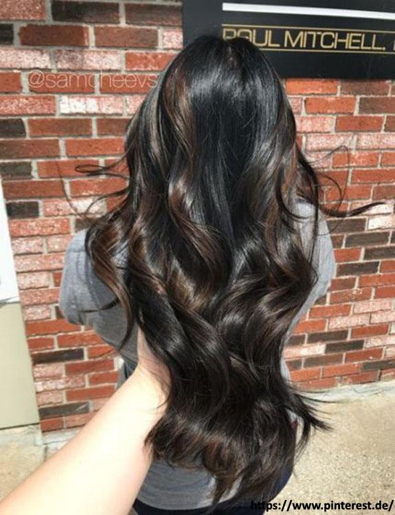 Black Hair With Natural Highlights