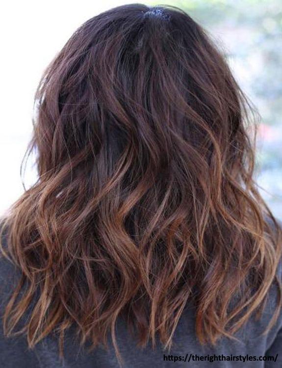 Chestnut Highlights On Black Hair
