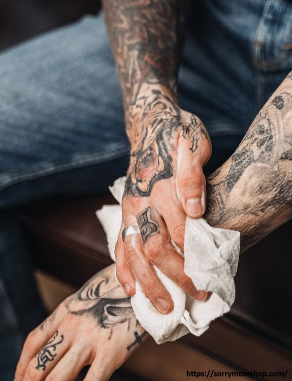 Do Not Scrub Your Tattoo With A Towel tattoo aftercare tips