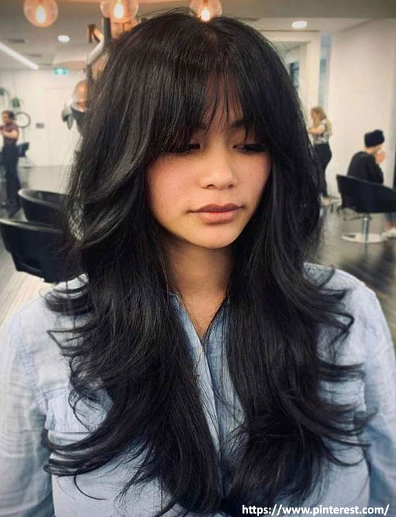 Feathered Hair with Bangs