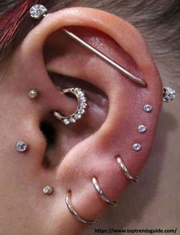 Full Ear Piercing - ear piercing types