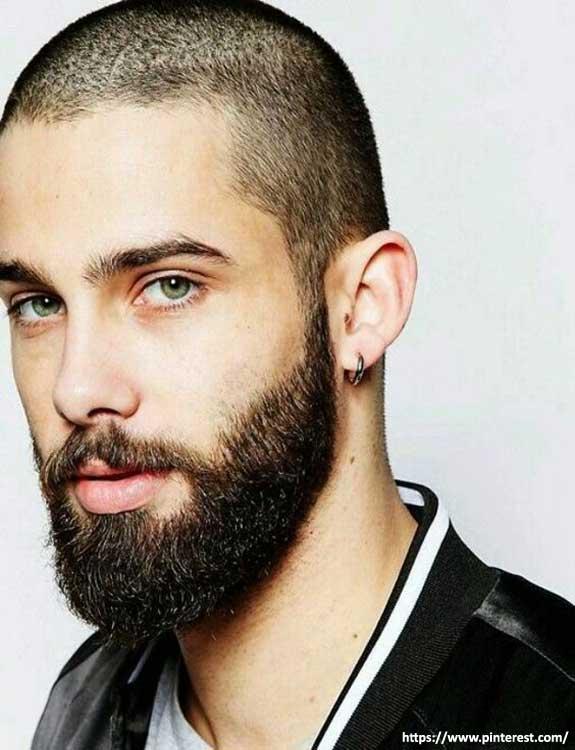 Full Shaved Head with Beard