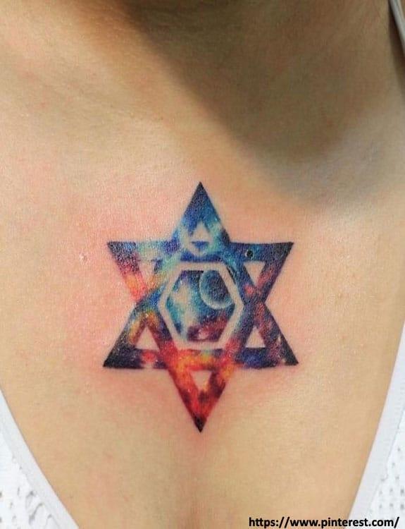 Galaxy Star Tattoo