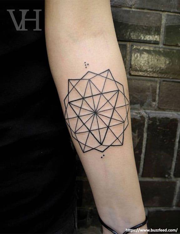 Geometric Star Tattoos