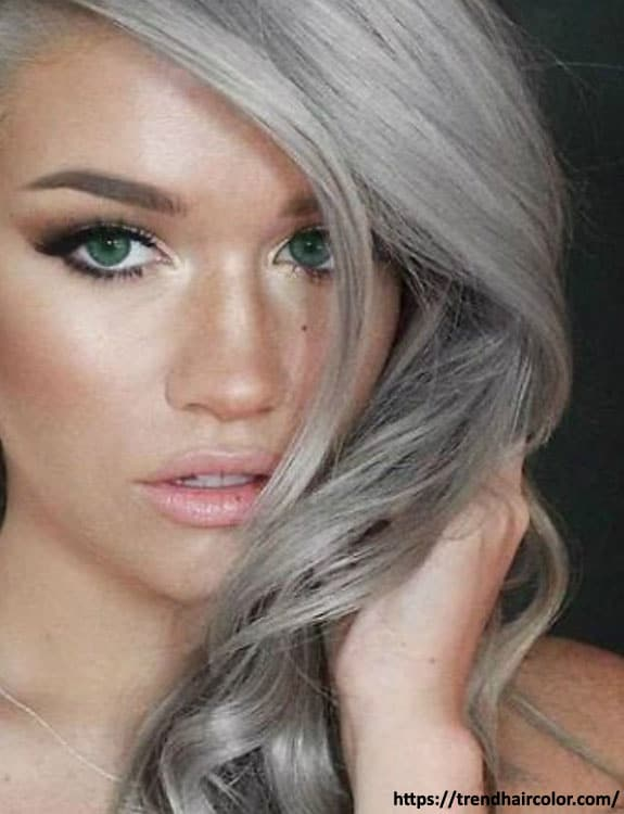 Gray Hair Colors With Green Eyes- hair-color-for-green-eyes