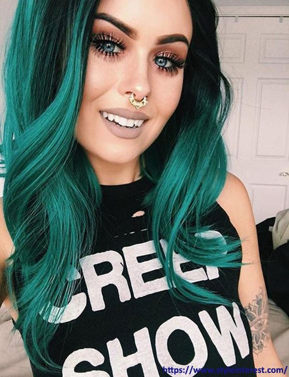 Green Eyes With Green Hair