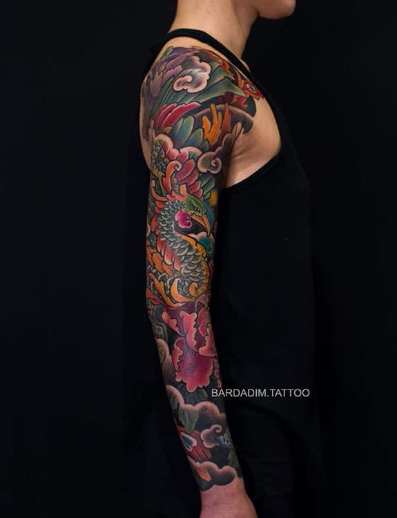Hou-ou (Japanese Phoenix) Tattoo