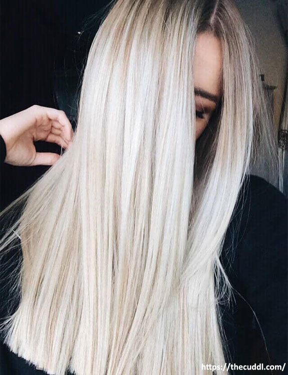 Ice Blond Hair hair color for brown skin