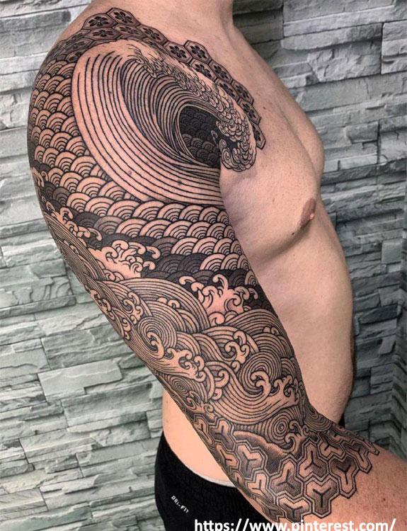 Japanese Geometric Tattoo