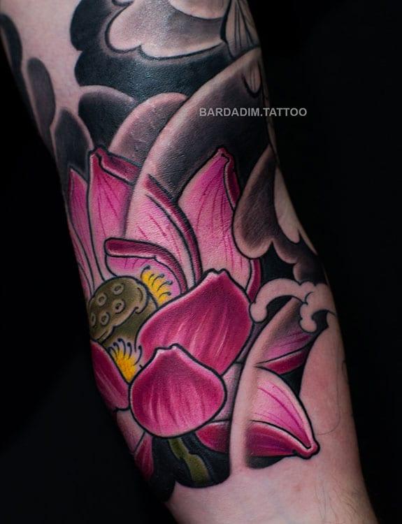Japanese Lotus Tattoo