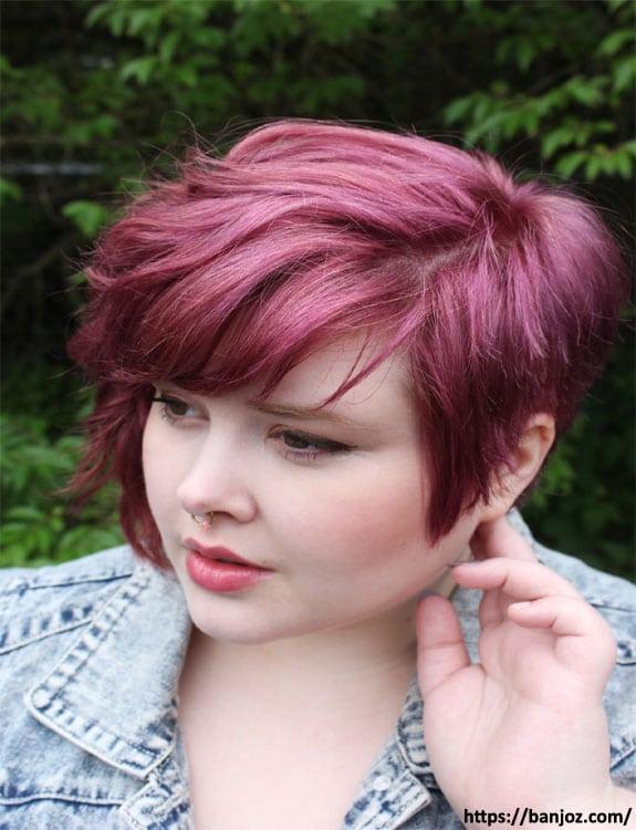 Long Choppy Pixie hairstyles for plus size women