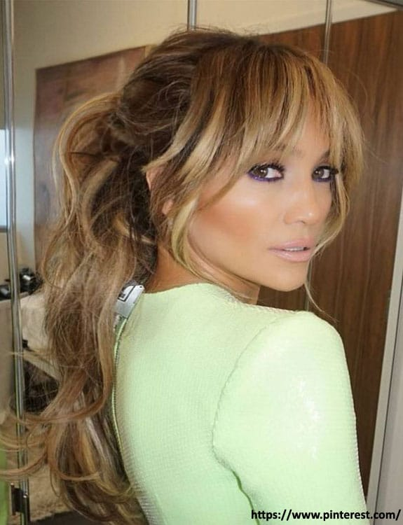Low Pony with Curtain Bangs
