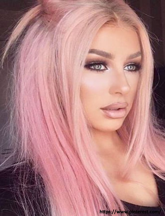 Mauve Pink Hair color hair color for brown skin