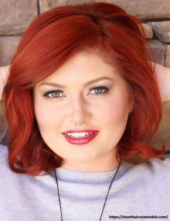 Medium-length Side Angled Cut hairstyles for plus size women