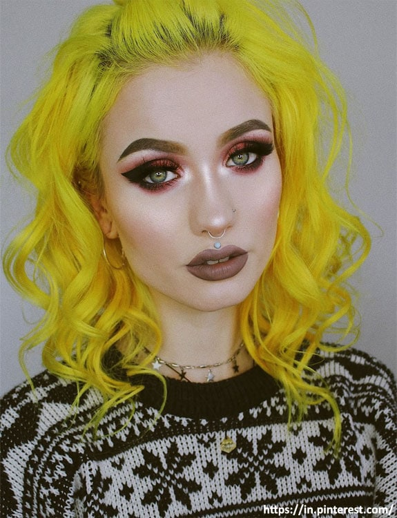 Neon Hair Color With Green Eyes