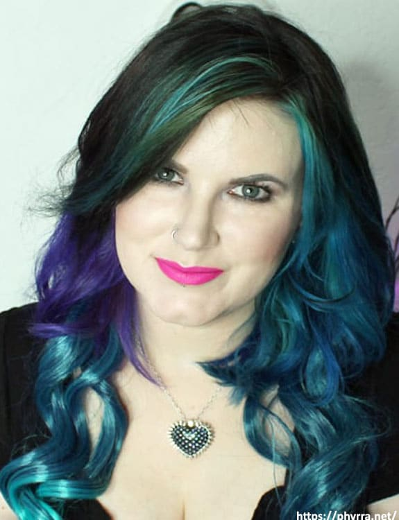 Oil Slick Hair Color With Green Eyes