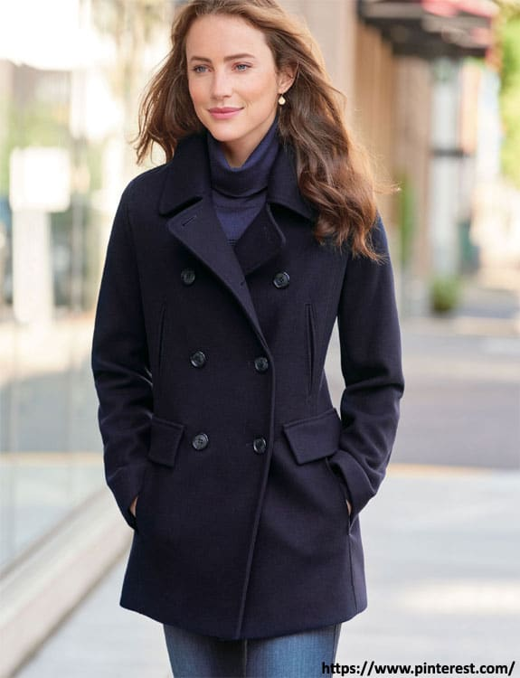 Pea Coat- what-to-wear-in-50-degree-weather