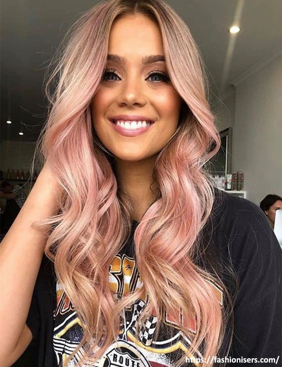 Rose Gold Hair hair color for brown skin