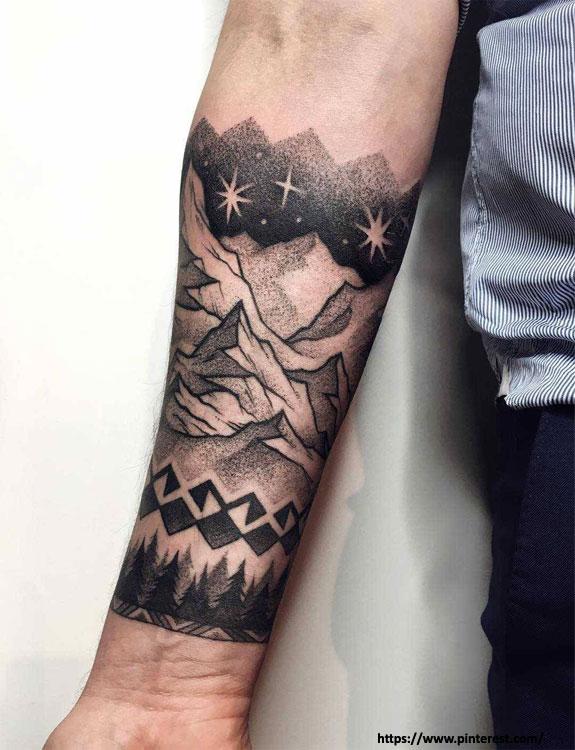 Starry Scenery Tattoo