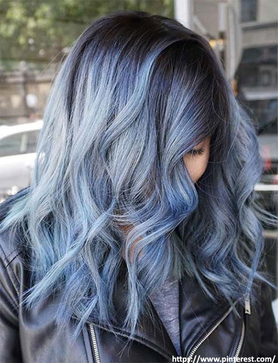 Stonewash Denim Hair Color hair color for brown skin