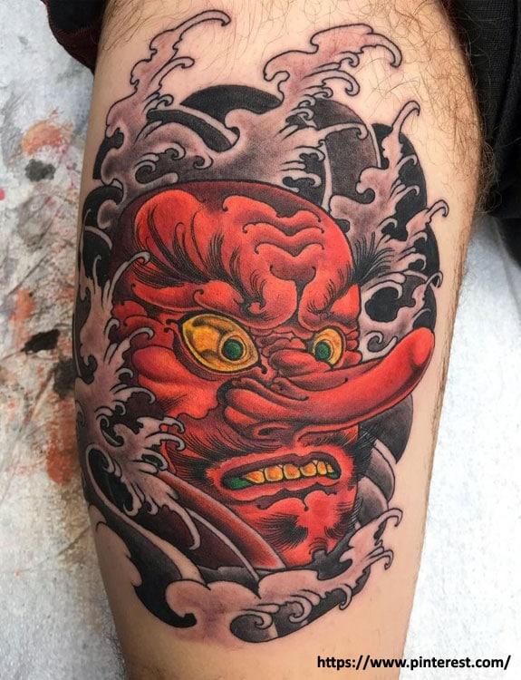Tengu (Japanese Supernatural Ghost) Tattoo