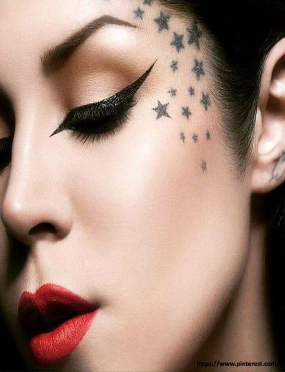 Under Eye Star Tattoo