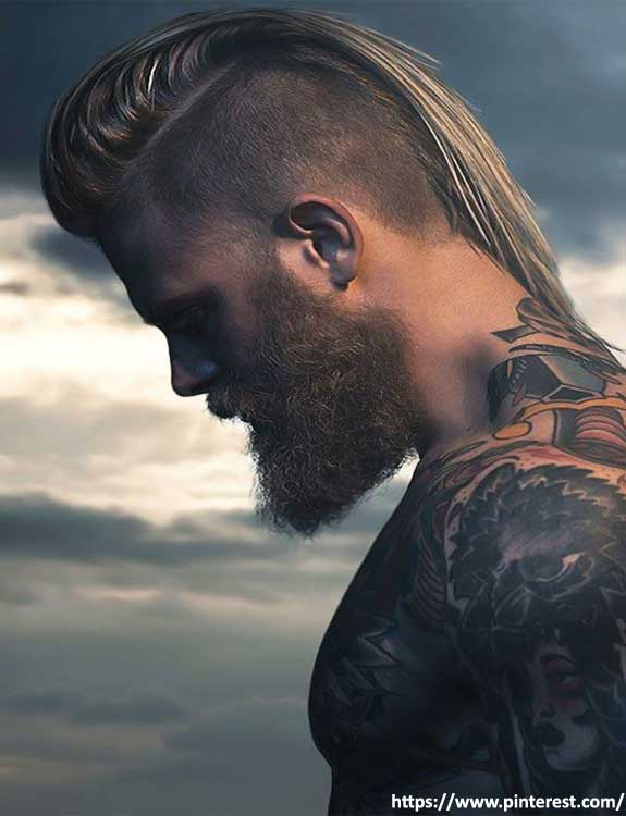 Viking Hairstyle With Shaved Back