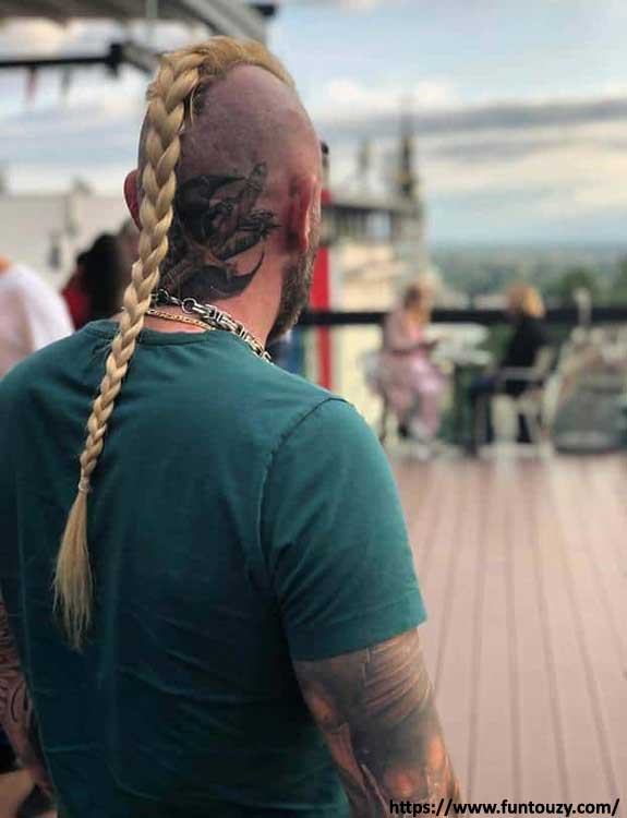 Viking Undercut With Tattoos