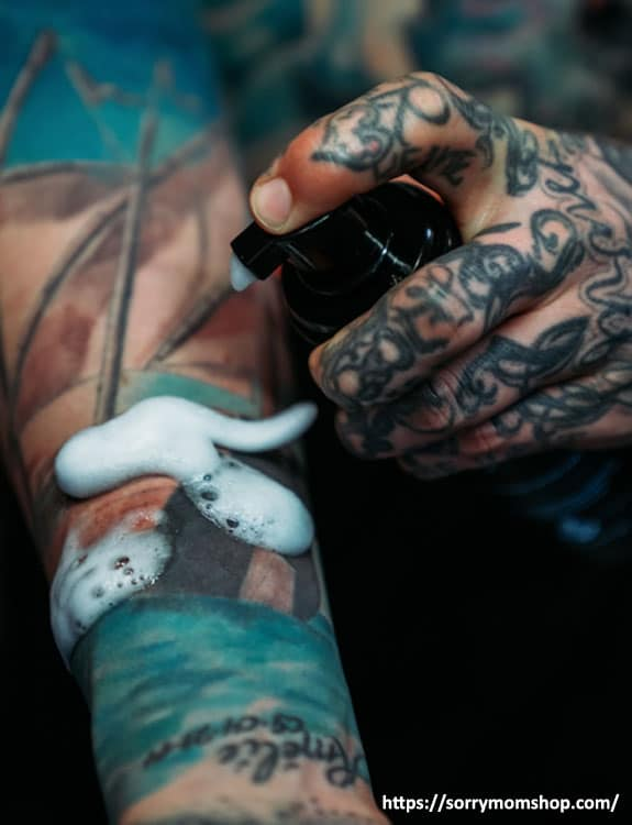 Wash The Tattoo Gently tattoo aftercare tips